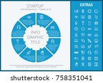 startup infographic template ... | Shutterstock .eps vector #758351041