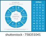 startup infographic template ... | Shutterstock .eps vector #758351041
