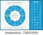 online business infographic... | Shutterstock .eps vector #758351059