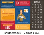 startup infographic template ... | Shutterstock .eps vector #758351161