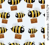 Bees With Briefcases. Vector...