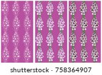 seamless pattern with gladiolus ... | Shutterstock .eps vector #758364907