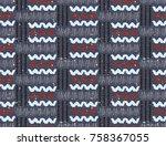 seamless african pattern.... | Shutterstock .eps vector #758367055