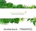 tropical island spring of... | Shutterstock .eps vector #758369521