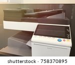 multifunction machine   fax ... | Shutterstock . vector #758370895
