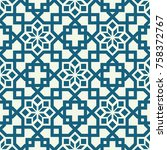 seamless texture with arabic... | Shutterstock .eps vector #758372767