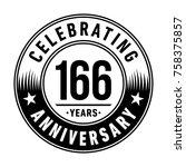 166 years anniversary logo... | Shutterstock .eps vector #758375857