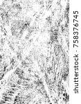 grunge black and white seamless ... | Shutterstock . vector #758376745