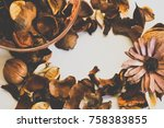dried scented flower  the way... | Shutterstock . vector #758383855