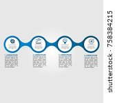 infographics circular vector... | Shutterstock .eps vector #758384215