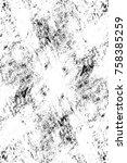 grunge black and white seamless ... | Shutterstock . vector #758385259