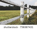 White Farm Fence Boundary On...