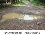 photo for mud puddle | Shutterstock . vector #758390041