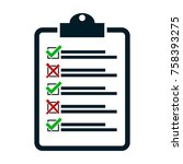 check no yes  vector checklist... | Shutterstock .eps vector #758393275