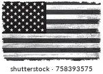 grunge american flag.vector... | Shutterstock .eps vector #758393575