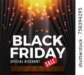 black friday sale banner... | Shutterstock .eps vector #758394295