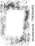 grunge black and white seamless ...   Shutterstock . vector #758396401