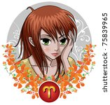 zodiac signs   aries | Shutterstock .eps vector #75839965