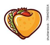 taco love logo | Shutterstock .eps vector #758405014