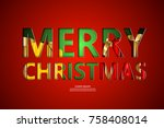 christmas ornament and... | Shutterstock .eps vector #758408014