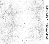 grunge black and white seamless ... | Shutterstock . vector #758408341
