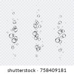 bubbles underwater set isolated ... | Shutterstock .eps vector #758409181