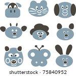 animal signs  vector | Shutterstock .eps vector #75840952