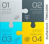 modern business infographic for ... | Shutterstock .eps vector #758412004