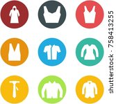 origami corner style icon set   ... | Shutterstock .eps vector #758413255