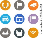 origami corner style icon set   ... | Shutterstock .eps vector #758414251