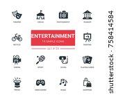 entertainment   line design... | Shutterstock .eps vector #758414584