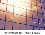low angle view of modern... | Shutterstock . vector #758414689