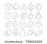 monoline illustrations. frames... | Shutterstock .eps vector #758420329