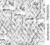 grunge black and white pattern. ... | Shutterstock . vector #758420551