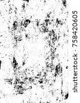 grunge black and white pattern. ... | Shutterstock . vector #758420605