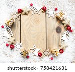 christmas holiday background  ... | Shutterstock . vector #758421631