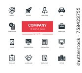 business concept  company  ... | Shutterstock .eps vector #758423755