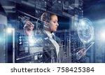 innovative media technologies...   Shutterstock . vector #758425384