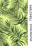 tropical pattern with exotic... | Shutterstock .eps vector #758427895