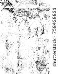grunge black and white pattern. ... | Shutterstock . vector #758428831