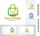 easy shop logo | Shutterstock .eps vector #758432485