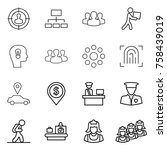 thin line icon set   target... | Shutterstock .eps vector #758439019