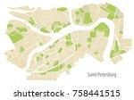 vector illustration map of st.... | Shutterstock .eps vector #758441515