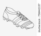 football boots  soccer shoes.... | Shutterstock .eps vector #758442157
