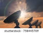silhouettes of array of... | Shutterstock . vector #758445709