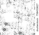 grunge black and white seamless ... | Shutterstock . vector #758453827