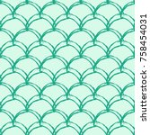 mermaid tail seamless pattern.... | Shutterstock .eps vector #758454031