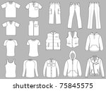 man clothes collection isolated ... | Shutterstock .eps vector #75845575