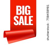 sale banner. realistic red... | Shutterstock .eps vector #758458981