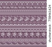 abstract ethnic vintage strip... | Shutterstock .eps vector #758461624